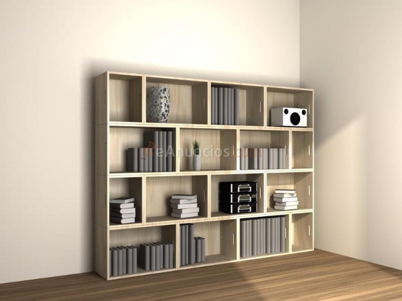 Estanterias modulares en madera maciza 575145 - Estanteria madera maciza ...